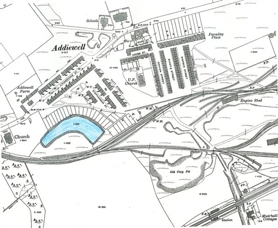 Photo:Map of the village in 1917.