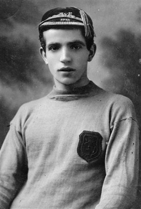 Photo:John Hanlon with his Scotland cap in 1913, aged 21.