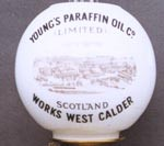 Photo:Lamp globe advertising Young's Paraffin Light and Mineral Oil Works