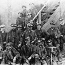 Photo:Miners at a coal mine, possibly Loganlea.  c. 1900s.