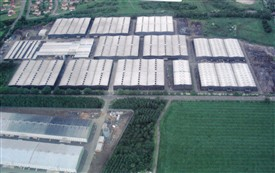 Photo:The bonded warehouses, looking north.  Top left, part of the Meadownhead estate.  c. 2005.