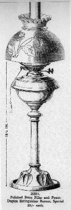 Photo:Oil lamp made by Young's Paraffin Light and Mineral Oil COmpany at its Clissold Works in Birmingham.
