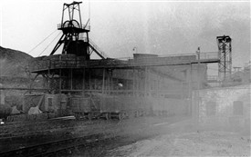 Photo:Railway sidings at Loganlea Colliery