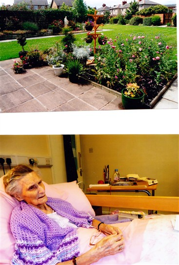 Photo:Two more photos: the upper one shows the beautiful garden at the Holy Family Sisters Convent at Birkenhead where Sister Margaret now resides in her retirement.