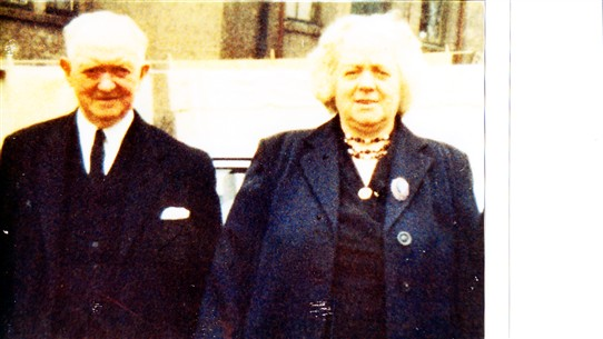 Photo:This is a picture of Wullie and Rachael Walker who were the Aunt and Uncle of Sister Margaret.
